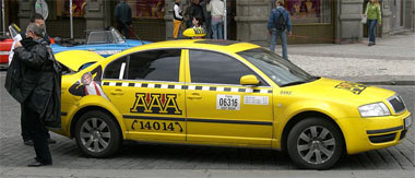 AAA Taxi vehicle